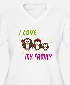 I love my family Plus Size T-Shirt