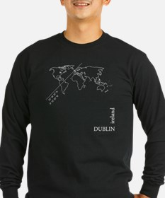 Dublin Geocode map Long Sleeve T-Shirt