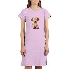 KiniArt Goldendoodle Puppy Women's Nightshirt
