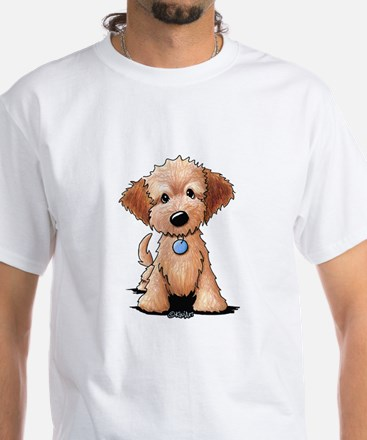 KiniArt Goldendoodle Puppy White T-Shirt