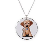 KiniArt Goldendoodle Puppy Necklace