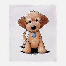 KiniArt Goldendoodle Puppy Throw Blanket