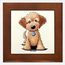 KiniArt Goldendoodle Puppy Framed Tile
