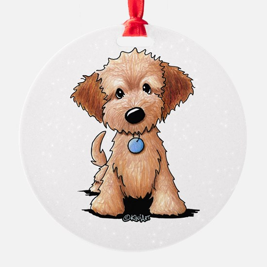 KiniArt Goldendoodle Puppy Ornament