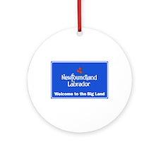 Welcome to Newfoundland & Labrador, Round Ornament