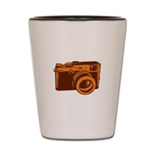 Camera 35mm Vintage Woodcut Shot Glass
