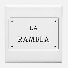 La Rambla, Barcelona, Spain Tile Coaster