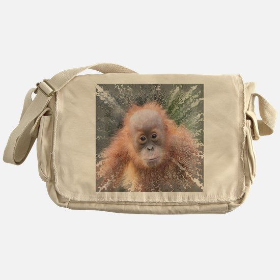 Cute Baby orangutan Messenger Bag