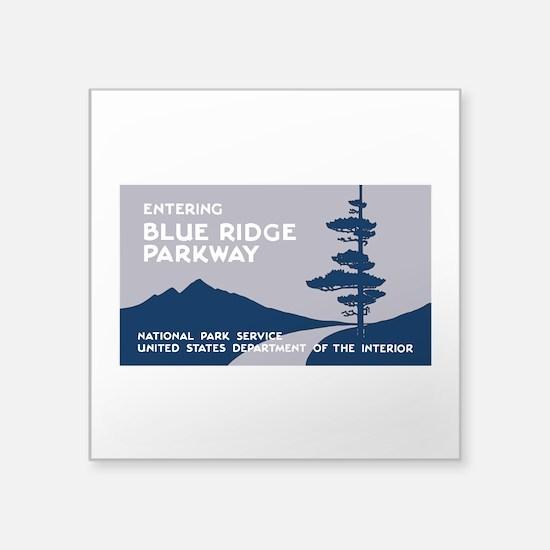 "Blue Ridge Parkway, VA & NC Square Sticker 3"" x 3"""