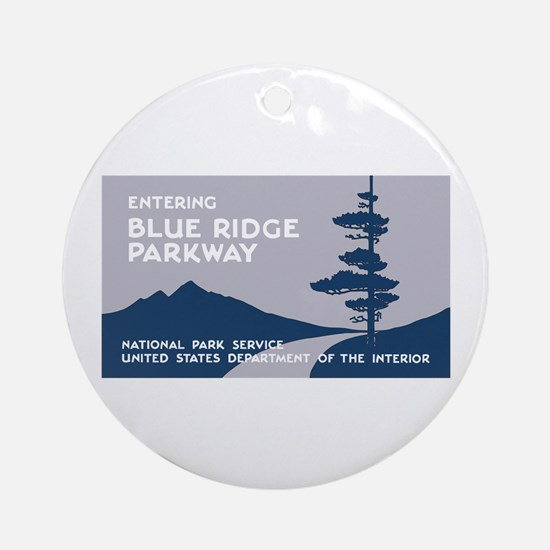 Blue Ridge Parkway, VA & NC - USA Round Ornament