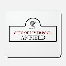 Anfield Borough, Liverpool, UK Mousepad