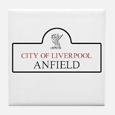 Anfield Borough, Liverpool, UK Tile Coaster