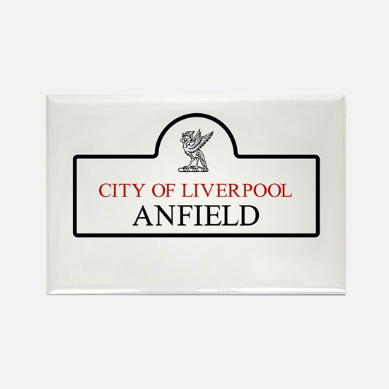 Anfield Borough, Liverpool, UK Rectangle Magnet
