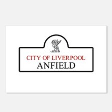 Anfield Borough, Liverpoo Postcards (Package of 8)