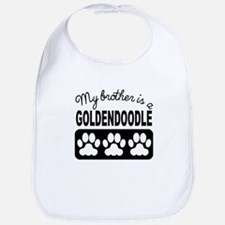My Brother Is A Goldendoodle Bib