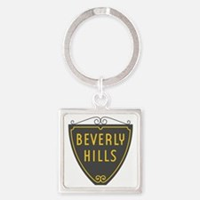 Beverly Hills, LA, California - US Square Keychain