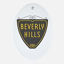 Beverly Hills, LA, California - USA Oval Ornament