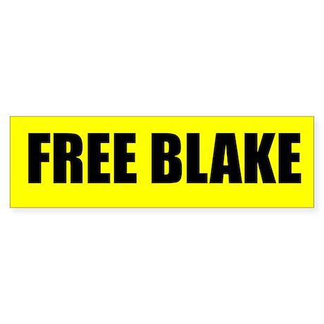 FREE BLAKE BUMPER STICKER