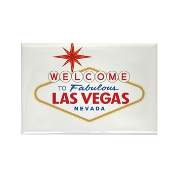 Welcome to Fabulous Las Vegas, NV Rectangle Magnet