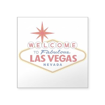 Welcome to Fabulous Las Veg Square Sticker 3