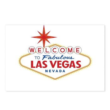 Welcome to Fabulous Las V Postcards (Package of 8)