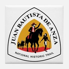 Juan Bautista Anza Trail, California Tile Coaster