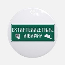 Extraterrestrial Highway, Nevada - Round Ornament