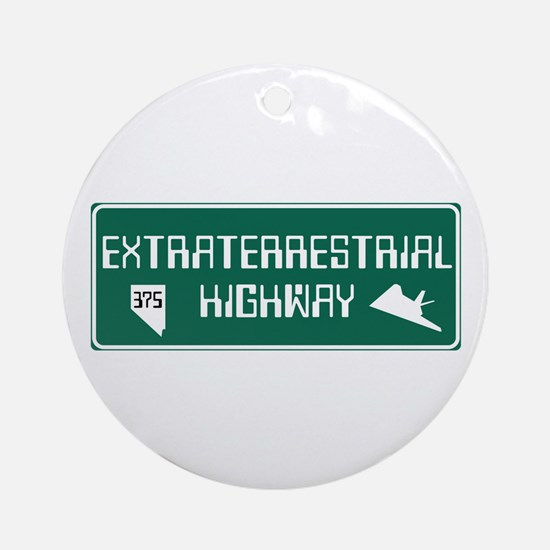 Extraterrestrial Highway, Nevada - Round Ornament