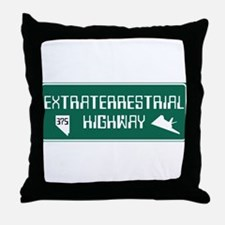 Extraterrestrial Highway, Nevada - US Throw Pillow