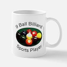 9 Ball Billiard Sports Player Mug