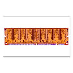 Electro Circuitry Rectangle Decal