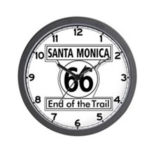 Santa Monica End of Trail, California - Wall Clock