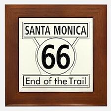 Santa Monica End of Trail, California Framed Tile