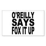 FOX IT UP Rectangle Sticker