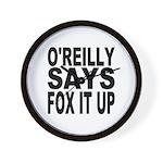 FOX IT UP Wall Clock