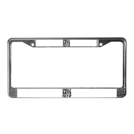 FOX IT UP License Plate Frame