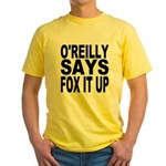 FOX IT UP Yellow T-Shirt