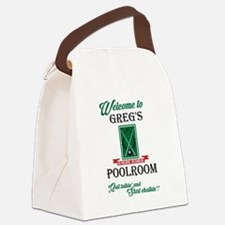 GREGS POOLROOM Canvas Lunch Bag