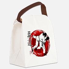 Cute Judo Canvas Lunch Bag
