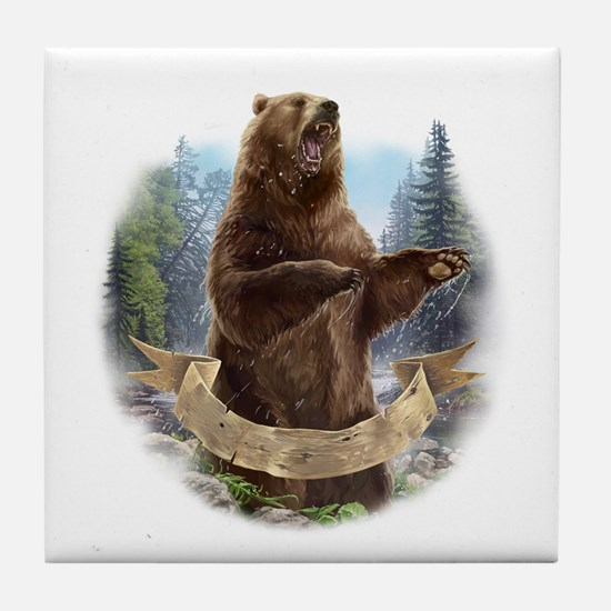 Grizzly Bear Tile Coaster