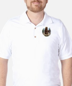 Grizzly Bear Golf Shirt