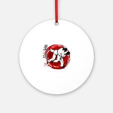 Judo Round Ornament