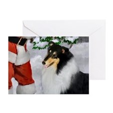Tri Collie Christmas Greeting Cards (Pk of 20)
