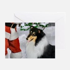 Tri Collie Christmas Greeting Cards (Pk of 10)