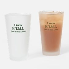 I Know H.T.M.L. (How To Meet Ladies Drinking Glass