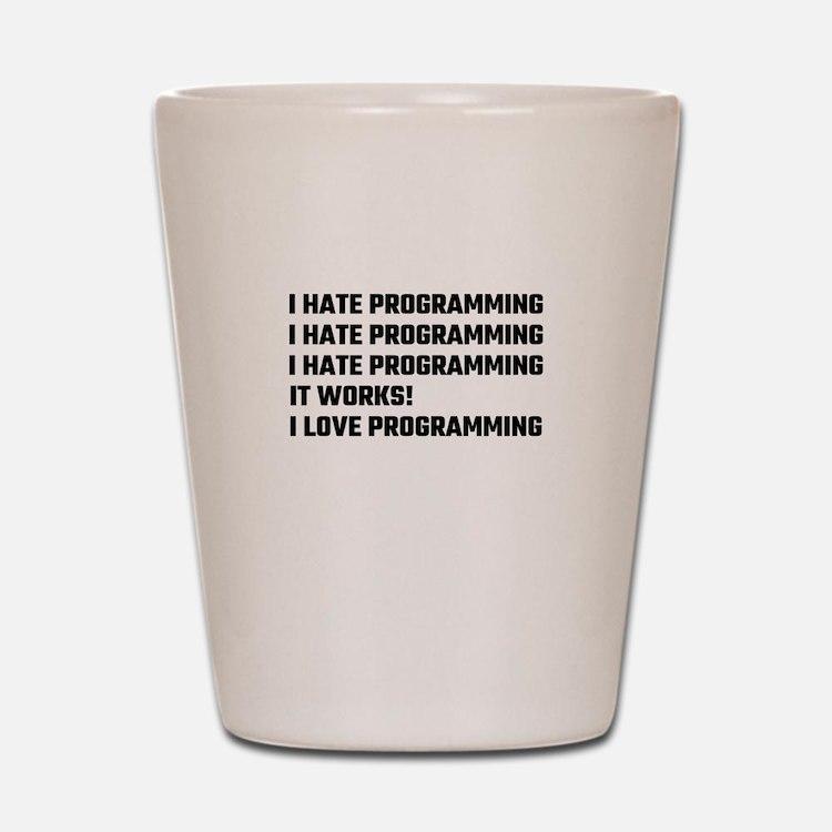 I Love Programming Shot Glass