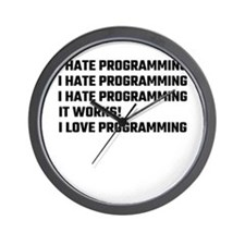 I Love Programming Wall Clock