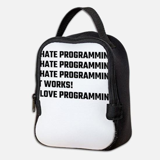 I Love Programming Neoprene Lunch Bag