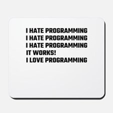 I Love Programming Mousepad