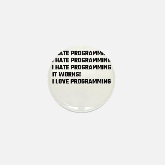 I Love Programming Mini Button